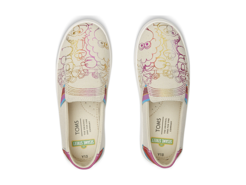 TOMS Sesame Street Foil Junior's Luca Slipon Natural