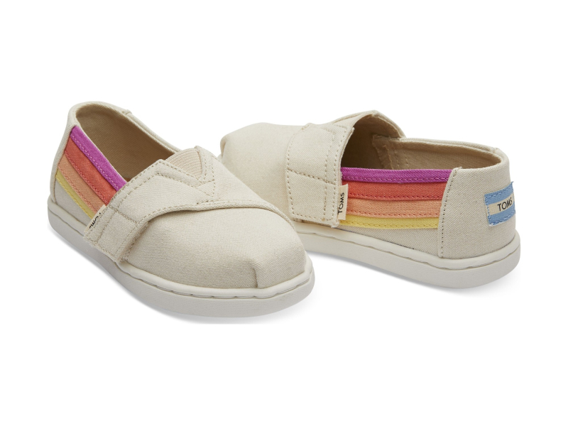 TOMS Horizon Canvas Kid's Alpargata Birch