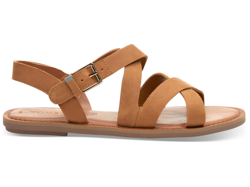TOMS Leather Women's Sicily Tan