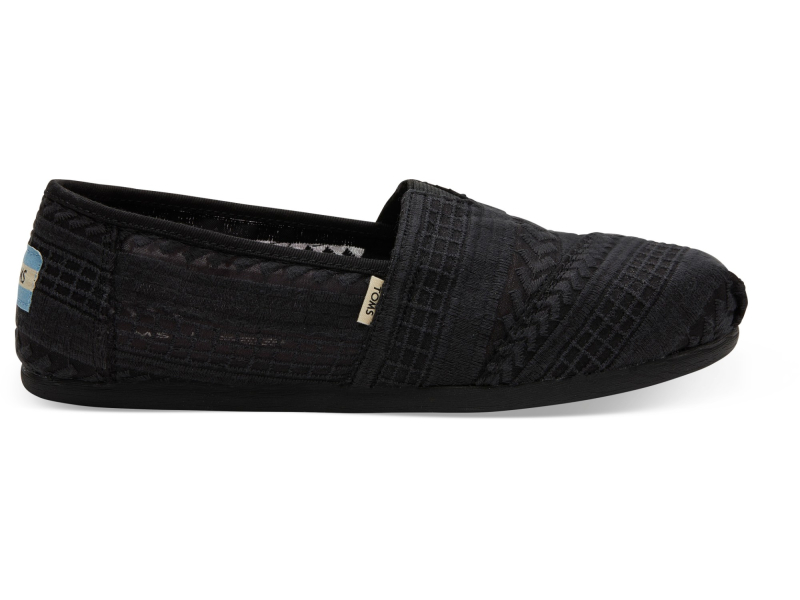 TOMS Arrow Mesh Women's Alpargata Black/Black