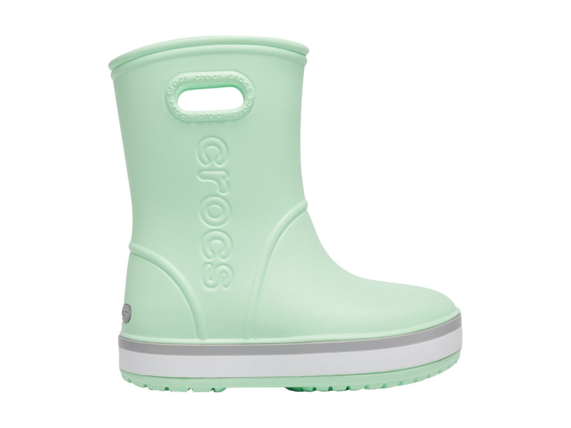 Crocs™ Crocband Rain Boot Kid's Neo Mint/Light Grey