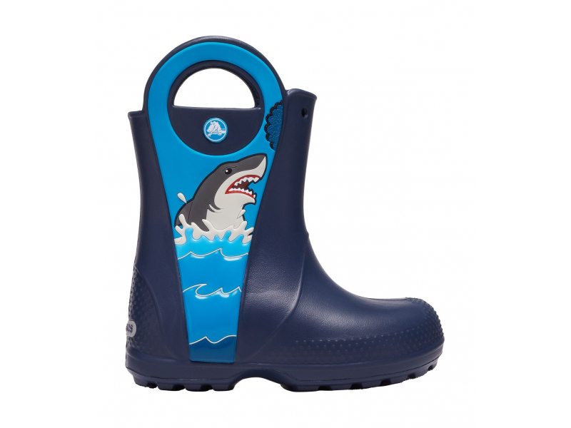 Crocs™ Funlab Shark Patch Rain Boot Kids Navy