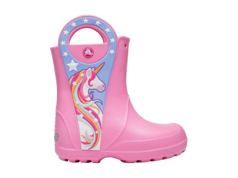 Crocs™ Funlab Unicorn Patch Rain Boot Kids Pink Lemonade