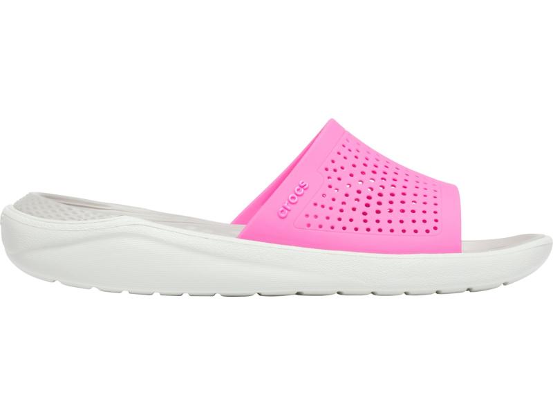 Crocs™ LiteRide Slide Electric Pink/Almost White