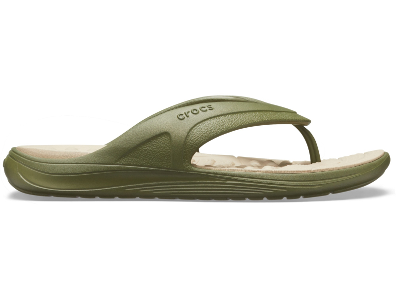 Crocs™ Reviva Flip Army Green/Cobblestone