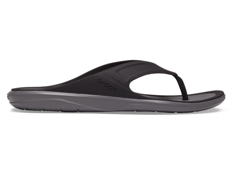 Crocs™ Swiftwater Wave Flip Mens Black/Slate Grey