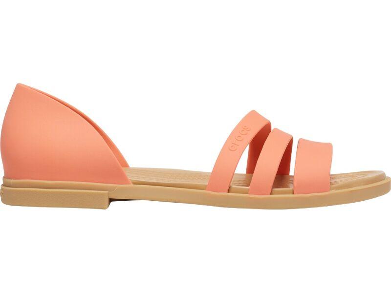 Crocs™ Tulum Open Flat Womens Grapefruit/Tan