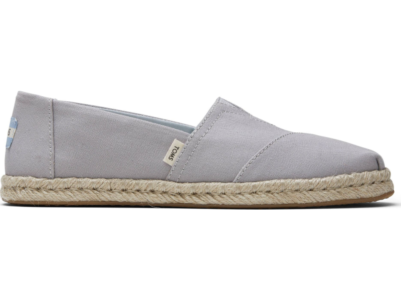 TOMS Plant Dyed Canvas Rope Women's Alpargata Grey