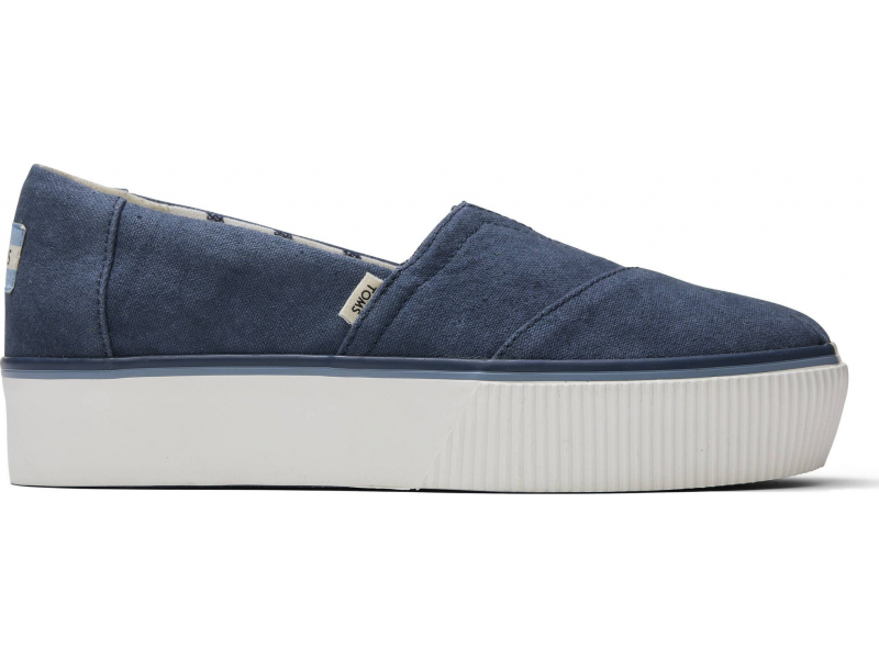 TOMS Vintage Canvas Women's Alpargata Boardwalk Blue