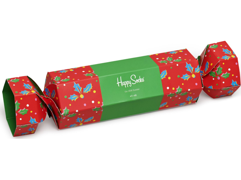 Happy Socks Christmas Cracker Holly Gift Box Multi 4300