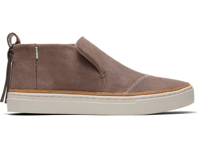TOMS Water Resistant Suede Women's Paxton Taupe Gray