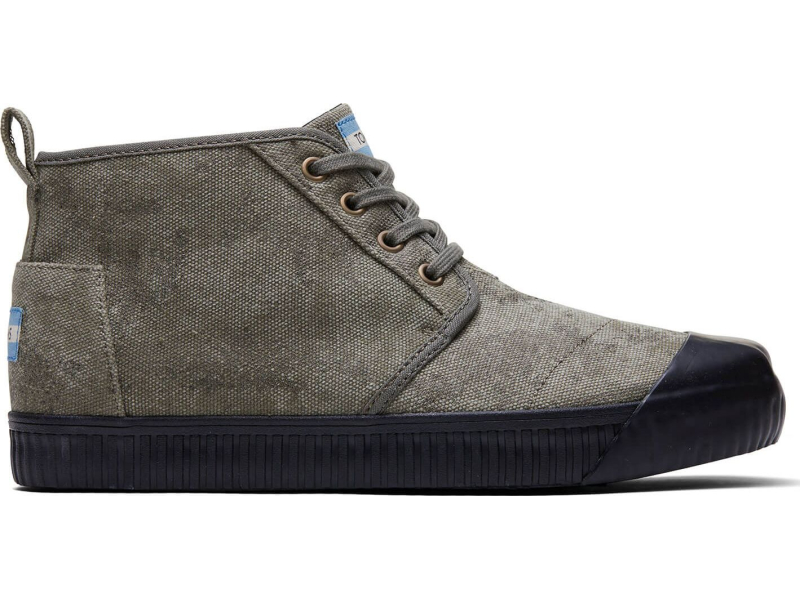 TOMS Distressed Printed Canvas Men's Botas Indio Dusty Olive