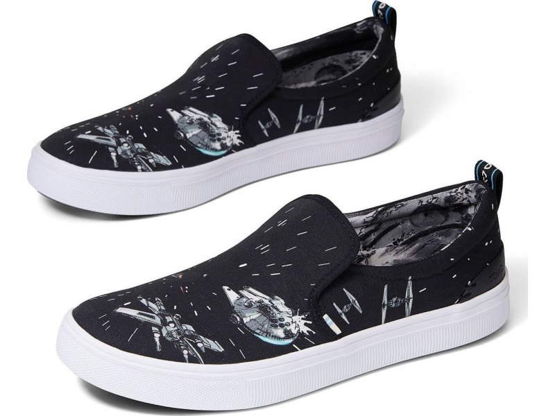 TOMS Star Wars Space Print Men's Trvl Lite Slip-On Black