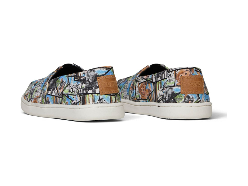 TOMS Star Wars Ewok Print Youth's Alpargata Multi