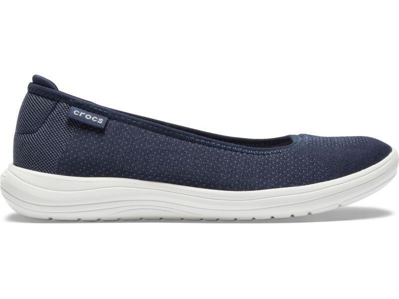 Crocs™ Reviva Flat Women's Navy/White