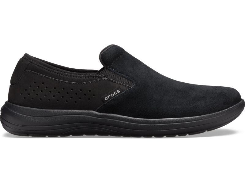 Crocs™ Reviva Suede Slip-On Men's Black/Black
