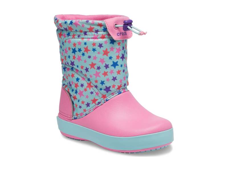 Crocs™ Crocband LodgePoint Graphic Winter Boot K Ice Blue/Pink Lemonade