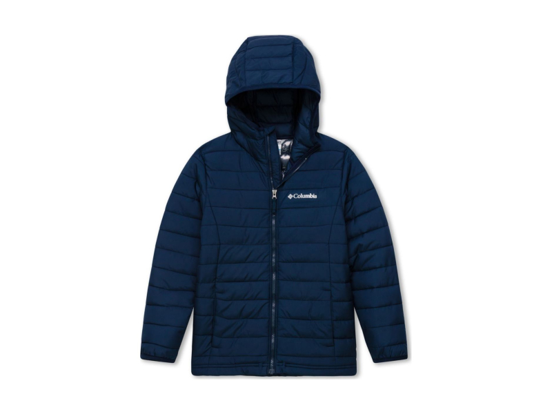 Columbia Powder Lite Boys Hooded Jacket Collegiate Navy