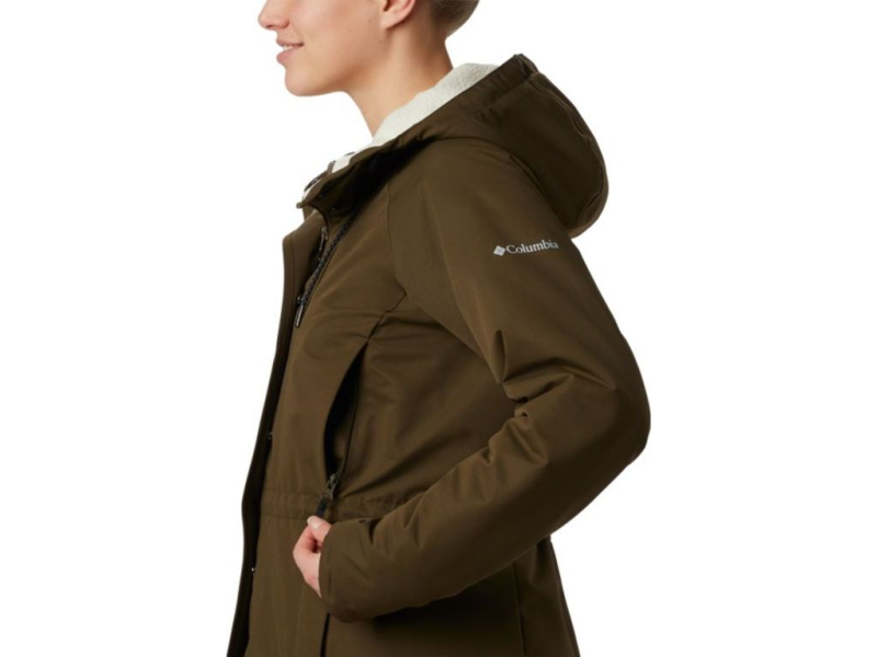 Columbia South Canyon Sherpa Lined Jacket Olive Green
