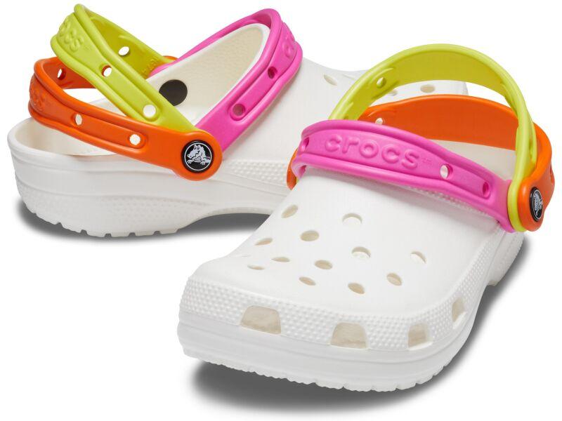 Crocs™ Classic Triple Strap Clog White/Citrus