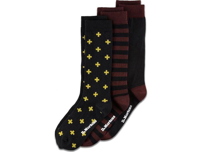 Dr. MARTENS Multipack Socks Cherry Red/Yellow/Black