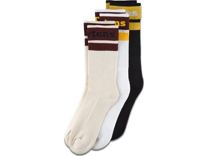 Dr. MARTENS Athletic Logo Socks AC739001 Black/Egret/White
