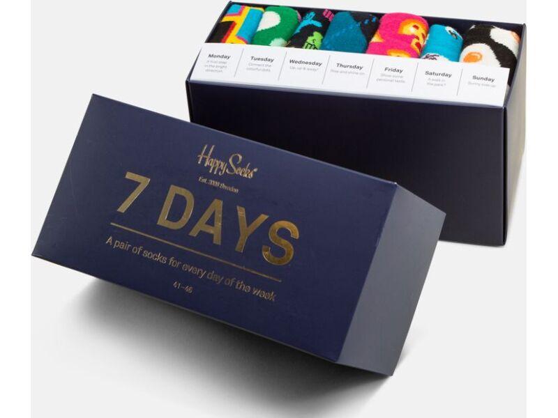 Happy Socks 7-Day Gift Box Multi 0101