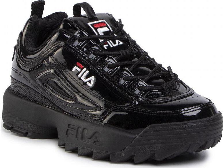 FILA Disruptor Patent Low Black/Black