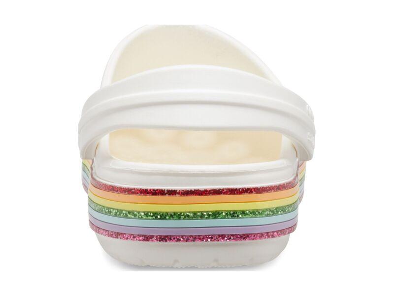 Crocs™ Crocband Rainbow Glitter Clog Kids White