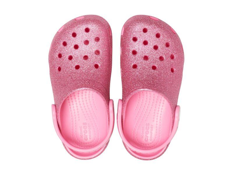 Crocs™ Kids' Classic Glitter Clog Pink Lemonade