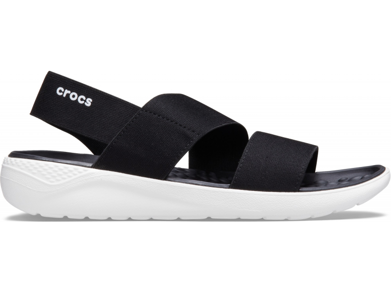 Crocs™ Literide Stretch Sandal Womens Black/White