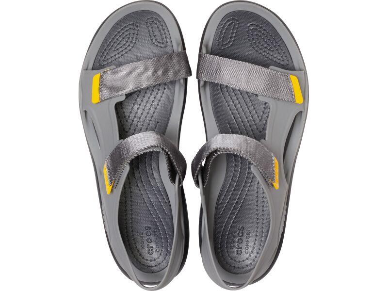 Crocs™ Swiftwater Molded Expedition Sandal Slate Grey/Black