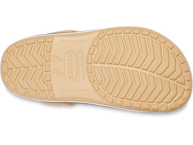 Crocs™ Crocband Botanical Print Clog Tan/White