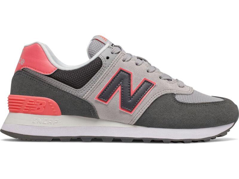 New Balance WL574 Nubuck Black/Pink