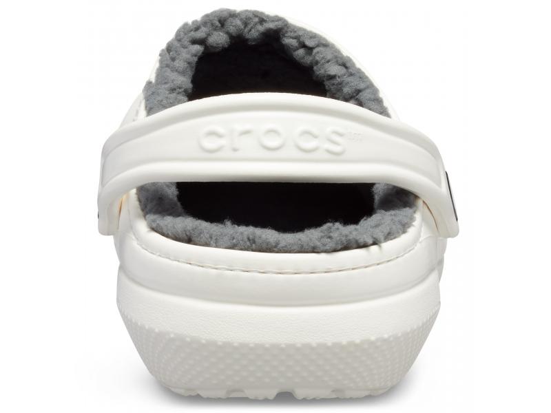 Crocs™ Classic Lined Clog White/Grey