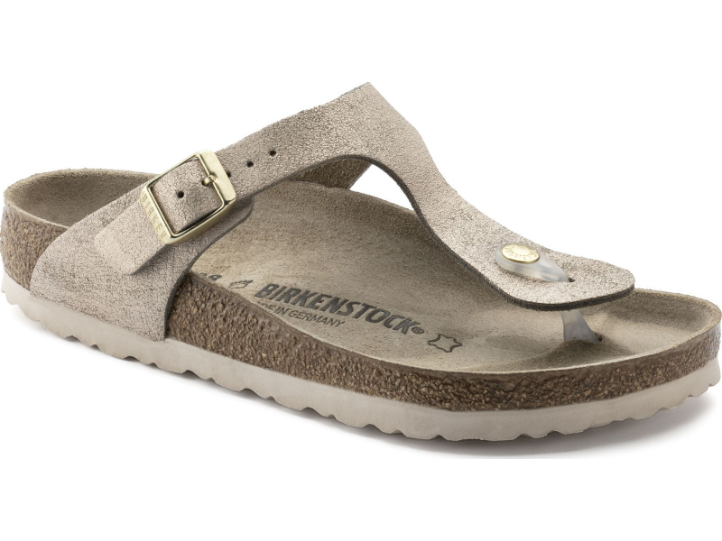 Birkenstock Gizeh Washed Metallic Leather Rose Gold