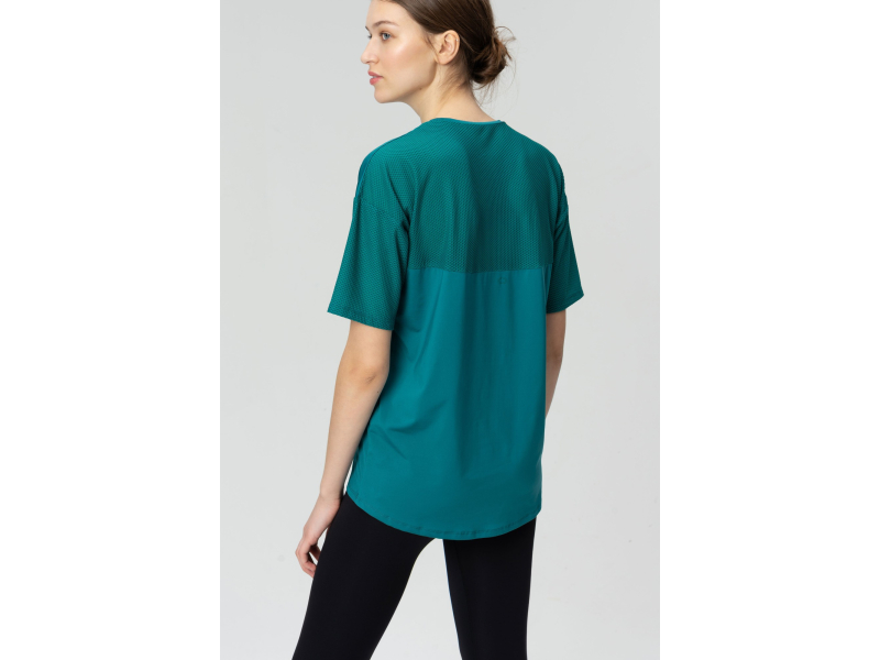 AUDIMAS Apranga Laisvo silueto funkcionalūs marškinėliai Everglade