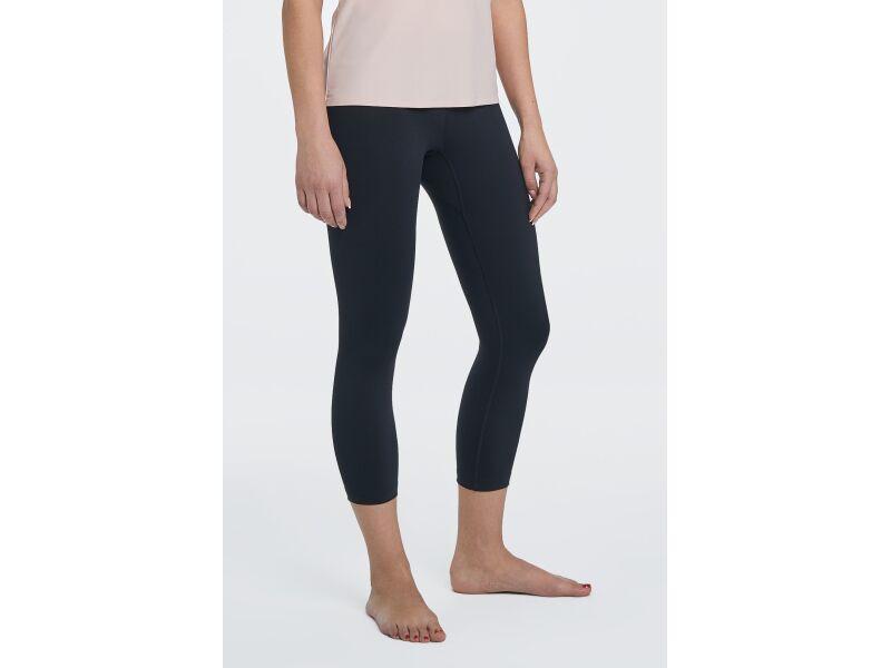 AUDIMAS  3/4 length legging for women for low intensity workouts like yoga. Black