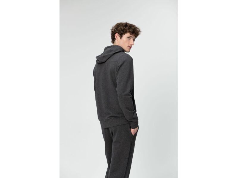 AUDIMAS Atsegamas medvilninis džemperis 2011-457 Dark Grey Melange