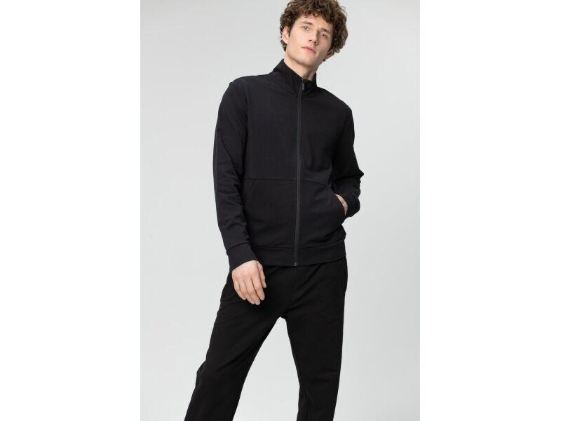 AUDIMAS Atsegamas medvilninis džemperis 2011-462 Black