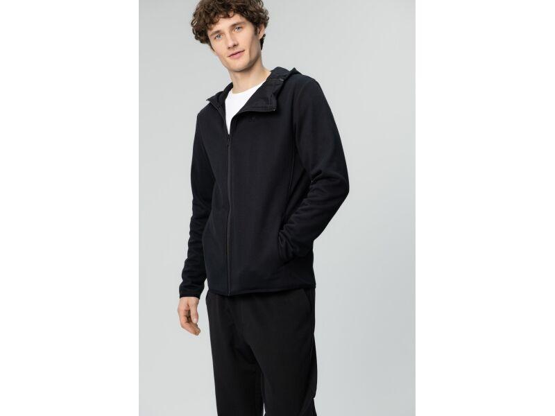 AUDIMAS Atseg. džemperis švelniu vidumi 2011-650 Black