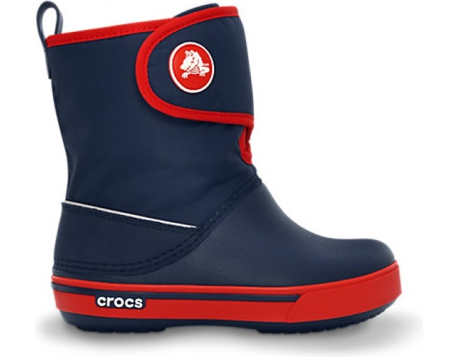 Crocs™ Kids' Crocband II.5 Gust Boot Navy/Red 29