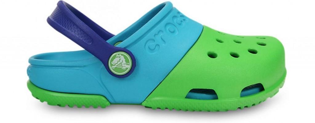 Crocs™ Kids' Electro II Clog Lime/Surf 21