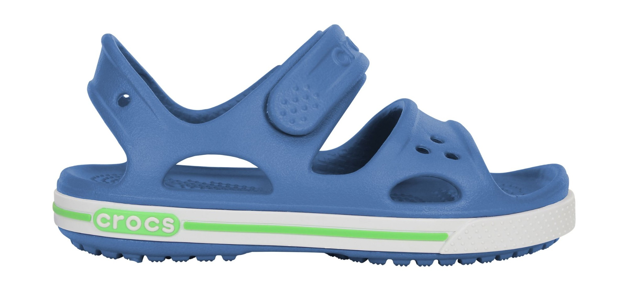 Crocs™ Kids' Crocband II Sandal PS Sea Blue/White 21