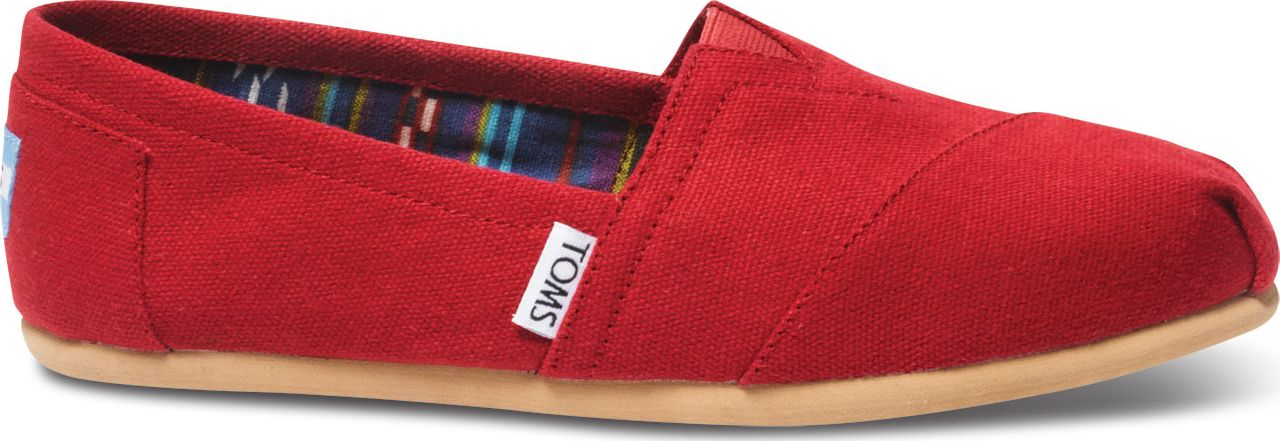 TOMS Canvas Women's Classic Alpargata Nl Red 40