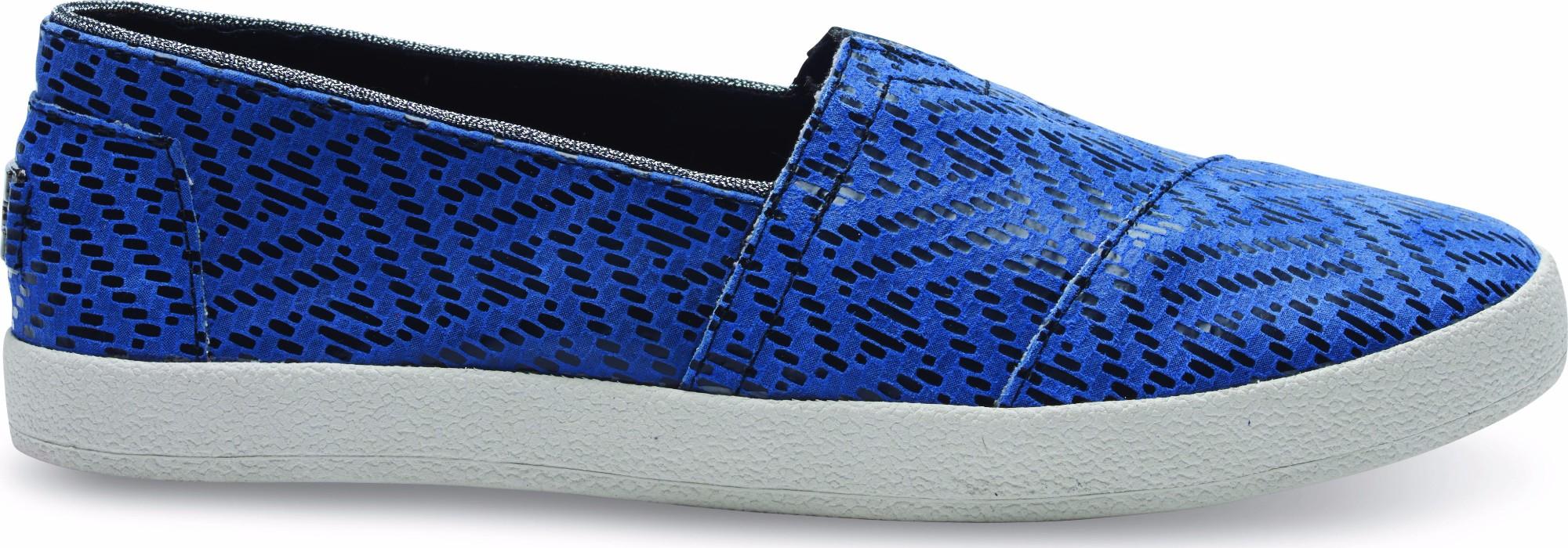 TOMS Leather Reptile Women's Avalon Sneaker Blue 38