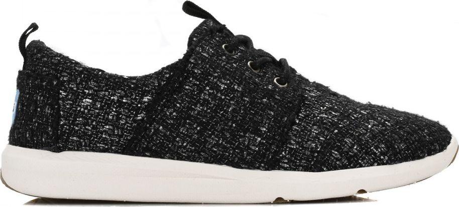 TOMS Glitter Wool Women's Del Rey Sneaker Black 37