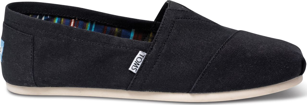 TOMS Canvas Men's Classic Alpargata Nl Black 42