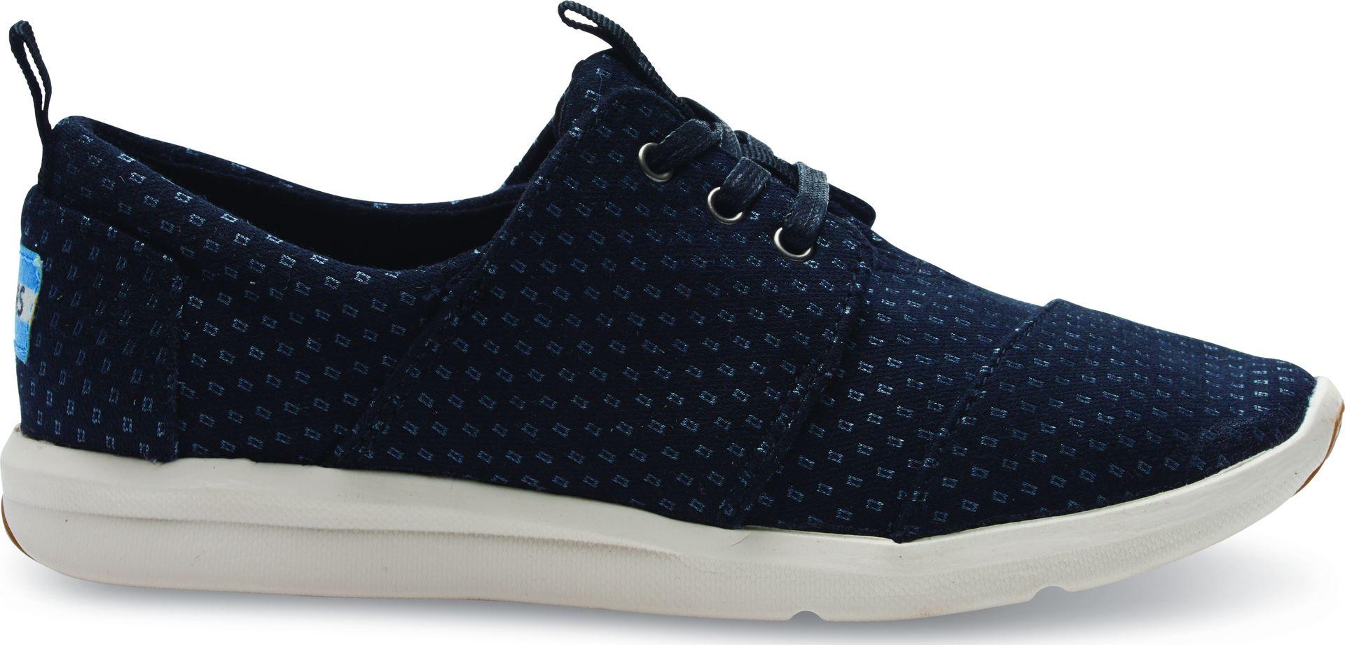 TOMS Textile Women's Del Rey Sneaker Black/Silver 37
