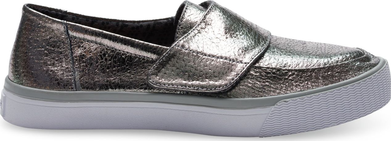 TOMS Leather Women's Altair Slipon Gunmetal 38